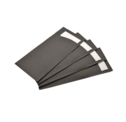 Bestekzak zwart met witte servet