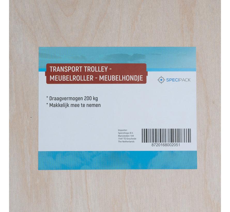 Transport Trolley - Meubelroller - Meubelhondje - Draagvermogen 200 kg