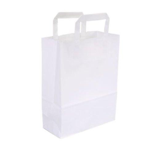 Papieren draagtas wit 22 x 10 x 28