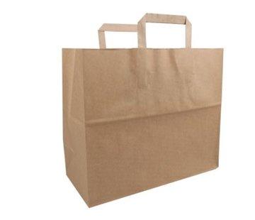 Biodore papieren draagtas Bruin - 32 x 17 x 27 cm - 250 stuks / €0,11 per stuk