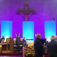 Led bouwlamp in de kerk