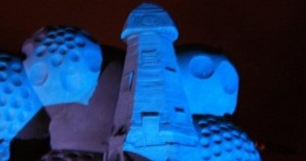 LED Bouwlampen voor een Zandsculpturenfestival