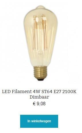 Led filament 4W dimbaar