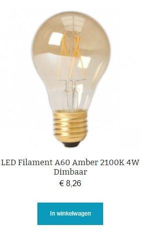 Led filament A60 Amber dimbaar