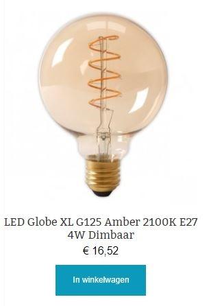 Led Globe Amber