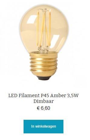 Led filament Amber dimbaar