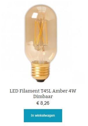Led filament Amber T45L