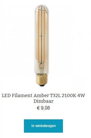 Led filament T32L dimbaar