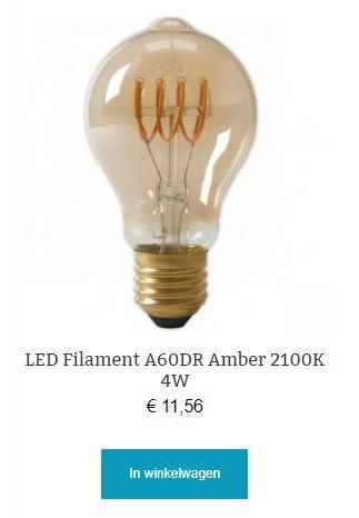 Led filament A60DR Amber