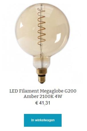 Led filament Megaglobe