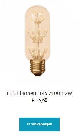 Led filament T45