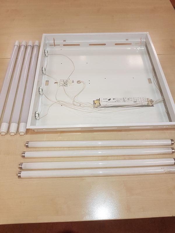 TL armatuur zonder TL tubes voor ombouwen TL armatuur
