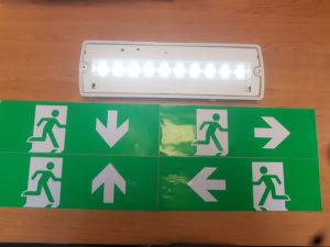 Pictogrammen noodverlichting
