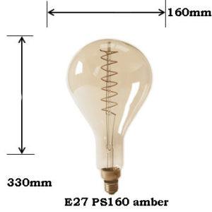 LED Filament PS160 E27 Amber 2100K 4W