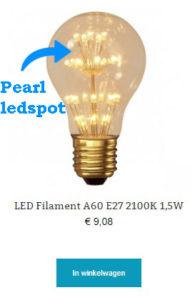 LED Filament A60 E27 2100K 1,5W
