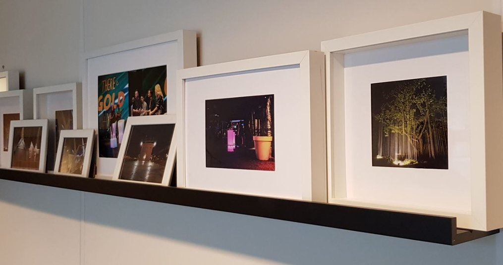 Onze projectfoto's met verlichting aan de wand