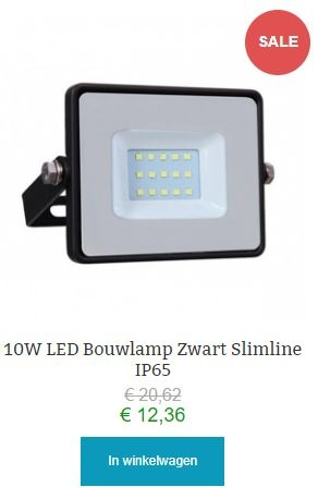 10w led bouwlamp