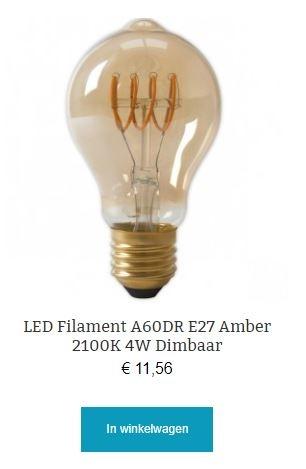 Led filament lamp A60