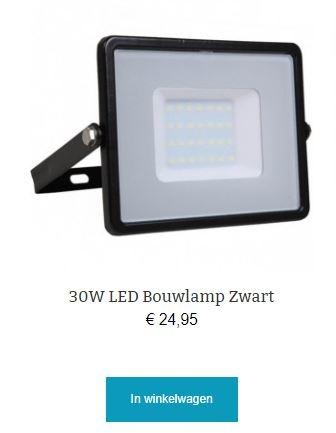 30w led bouwlamp