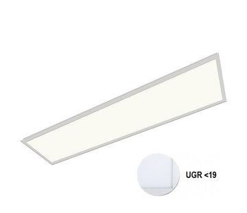 Specilights LED Paneel 120x30cm UGR19 32W 4000K Premium 120Lm/W High Lumen - 5 Jaar Garantie - Flikkervrij inclusief Stekker