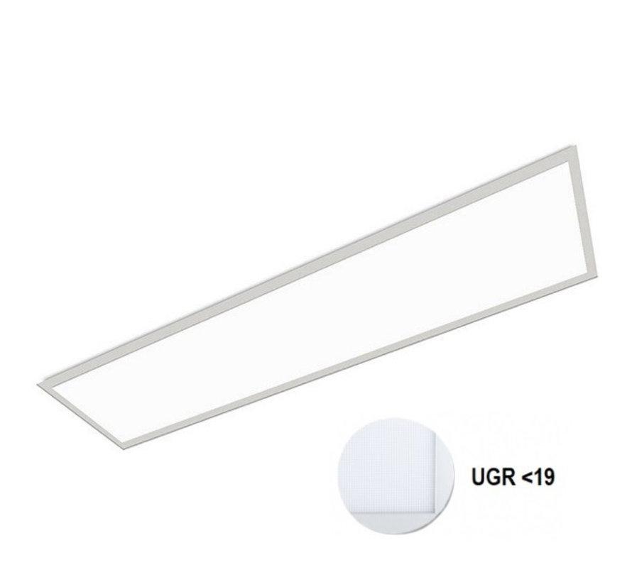 LED Paneel 120x30cm UGR19 32W 6000K Premium 120Lm/W High Lumen - 5 Jaar Garantie - Flikkervrij inclusief Stekker