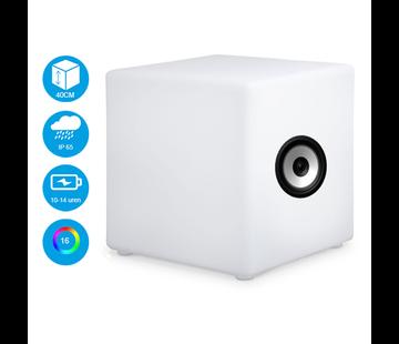 Specilights RGB LED Kubus + Speaker 40 cm