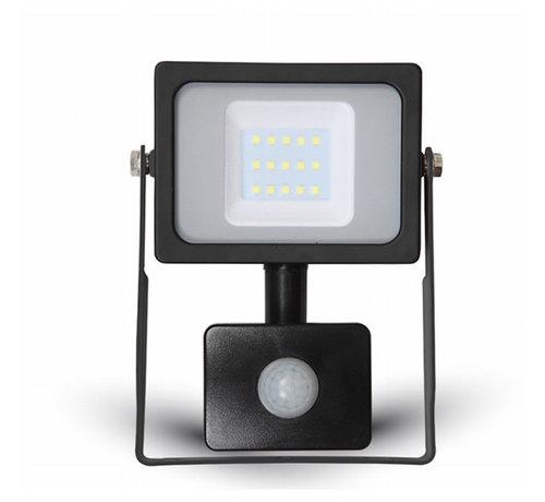 20W LED Bouwlamp met Sensor Zwart - 4000K