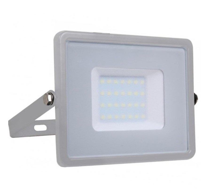 30W LED Bouwlamp Grijs - Waterdicht IP65 - 5 jaar garantie