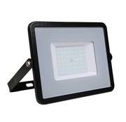 50W LED Bouwlamp Zwart  - 5000 Lumen - 3000K - Waterdicht IP65 - 5 jaar garantie