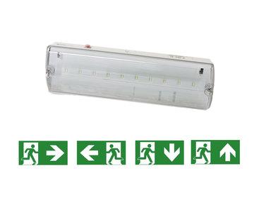 Specilights LED Noodverlichting Vluchtwegverlichting 3W IP65 Waterdicht - Inclusief Pictogrammen