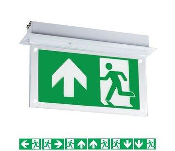 Specilights LED Noodverlichting Vluchtwegverlichting inbouw plafond 2W - Inclusief Pictogrammen
