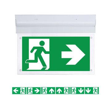 Specilights LED Noodverlichting Vluchtwegverlichting opbouw plafond/wand 2W - Inclusief Pictogrammen