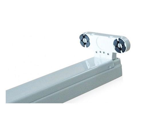 Specilights LED TL armatuur dubbel 120 cm opbouw - Kant en klaar voor twee led tl buizen
