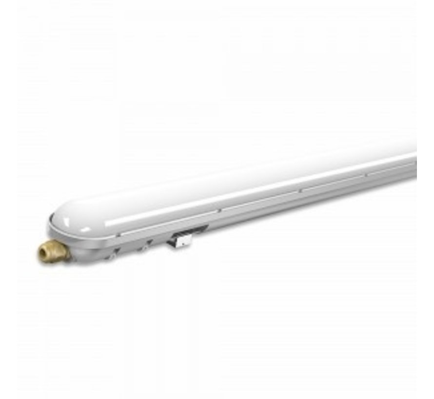 Waterdicht IP65 LED armatuur opbouw met noodunit 1.2m