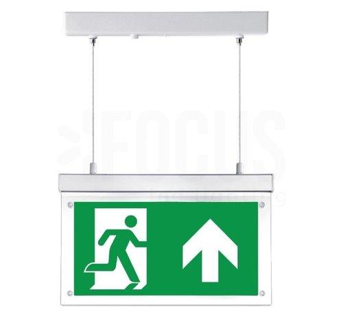 LED Noodverlichting Vluchtwegverlichting pendant opbouw 2W - Inclusief Pictogrammen