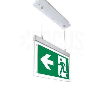 Specilights LED Noodverlichting Vluchtwegverlichting pendant inbouw 2W - Inclusief Pictogrammen