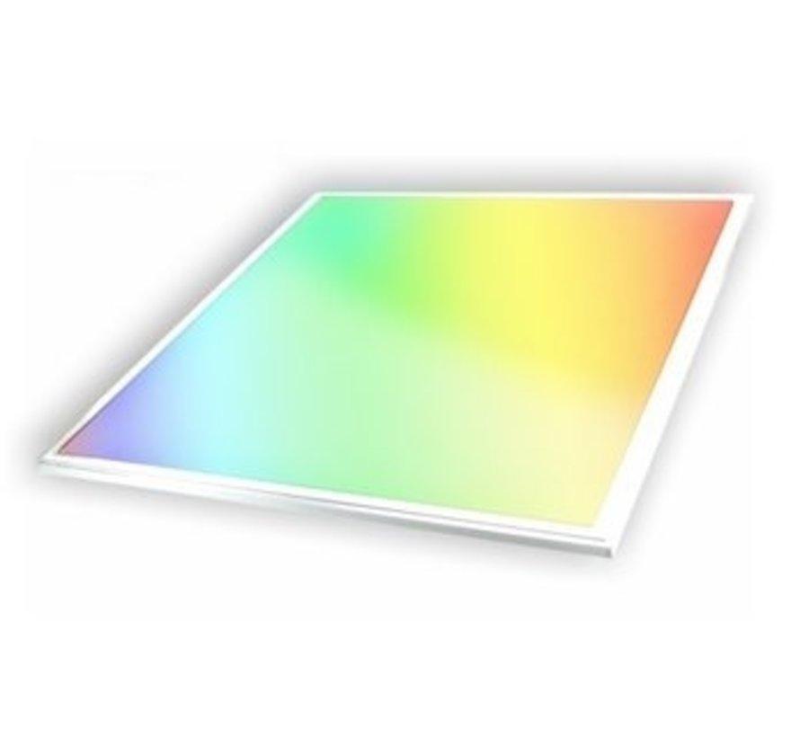 RGB-W LED Paneel 60 x 60 cm inclusief Remote en Snoer + Stekker