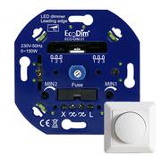 Specilights LED Inbouwdimmer - Universele Dimmer 0-150W Fase Afsnijding - Min/Max-stand - Inclusief afdekraam en draaiknop