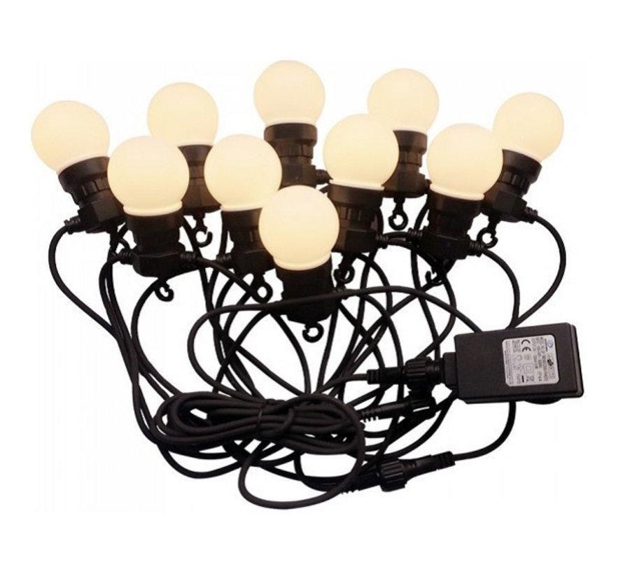 Feestverlichting Prikkabel 5 Meter 10 Lampen Warm licht