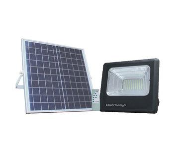 LED bouwlamp 20W met los zonnepaneel - IP65 waterdicht - Inclusief quickconnector - met afstandsbediening