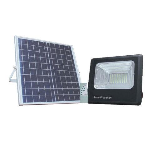 Specilights LED bouwlamp 35W met los zonnepaneel - IP65 waterdicht - Inclusief quickconnector - met afstandsbediening