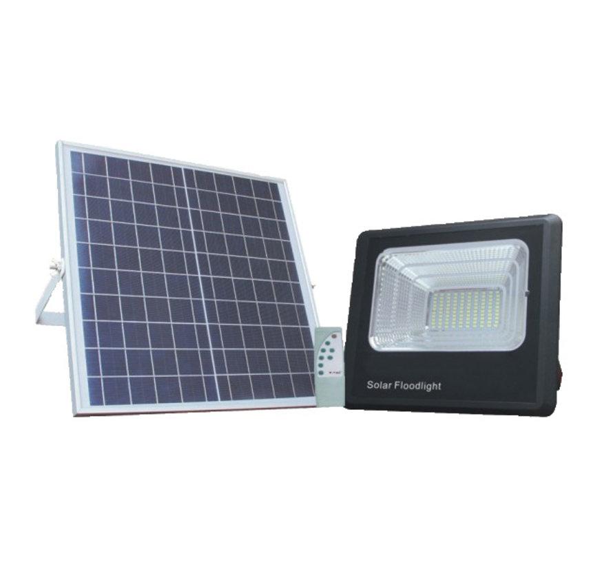 LED bouwlamp 50W met los zonnepaneel - IP65 waterdicht - Inclusief quickconnector - met afstandsbediening