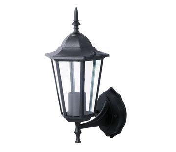 Tuin Wandlamp Lantaarn Cefalù Zwart Omhooggericht
