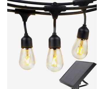 Specilights Solar Feestverlichting Prikkabel 15 Meter 10 Lampen op Zonne-energie / Zonnepaneel
