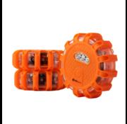 Specilights Specilights LED Gevarenlamp Set van 3 - Veiligheidslicht Disk met 15 LED's - Waarschuwingslamp Noodlamp