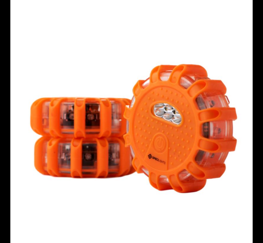 LED Gevarenlamp Set van 3 - Veiligheidslicht Disk met 15 LED's - Waarschuwingslamp Noodlamp