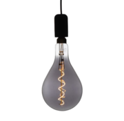 Specilights XXL Megaglobe LED 30 cm - PS160 Filament lamp Smokey - E27 Giant Dimbaar 6W - Oversized Giant Spiral Bulb
