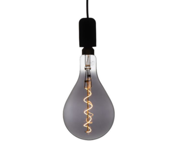XXL Megaglobe LED 30 cm - PS160 Filament lamp Smokey - E27 Giant Dimbaar 6W - Oversized Giant Spiral Bulb