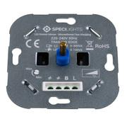 Specilights Specilights LED Dimmer Inbouw - Inbouwdimmer Fase Afsnijding - 5-150W - Druk- en Draaidimmer
