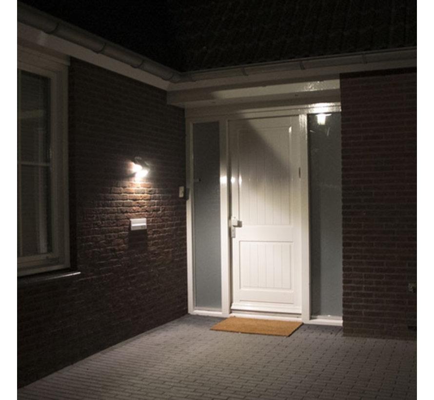 Solar LED Muurlamp met Sensor 3W - IP65, volledig waterdicht - 3 unieke lichtstanden - Buitenverlichting